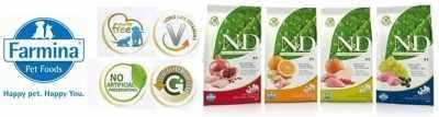 Specifiche degli alimenti secchi Farmina N&D Grain Free per cani