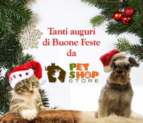 Auguri di buone feste a te ed al tuo amico peloso da Pet Shop Store