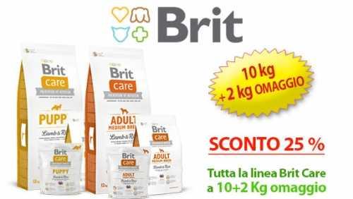Brit Care tutta la linea di crocchette con 10 kg + 2 kg omaggio e sconto 25%