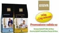 Crocchette per cani Enova in promozione con 14 Kg + 2 Kg omaggio