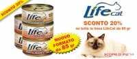 Novità cibo umido per gatti Lifecat da 85 gr. ed Offerta Prolife sui sacchi da 15 Kg