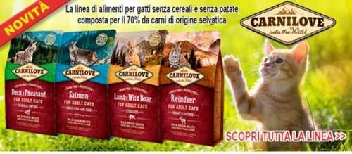 Novità crocchette per gatti Carnilove, qualità senza cereali