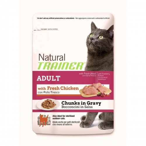 Novità Trainer gatto: umido Natural bustine e crocchette Natural Sterilizzati Prosciutto scontati fino al 24%