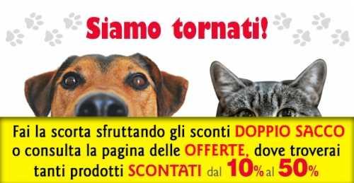 Operativi dal 25 agosto Pet Shop Store alimentianimalionline.it