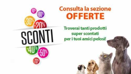 Tanti alimenti ed accessori disponibili nella sezione Offerte del sito web Pet Shop Store, approfittane